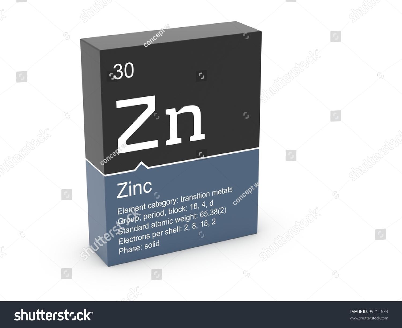 Zinc mendeleevs periodic table stock illustration 99212633 zinc from mendeleevs periodic table gamestrikefo Gallery
