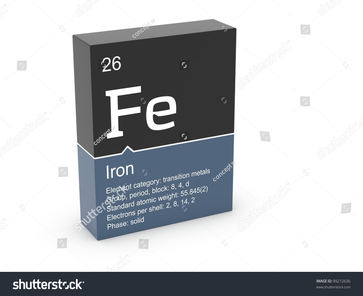 Iron from mendeleev 39 s periodic table stock photo 99212636 shutterstock - Iron on the periodic table ...