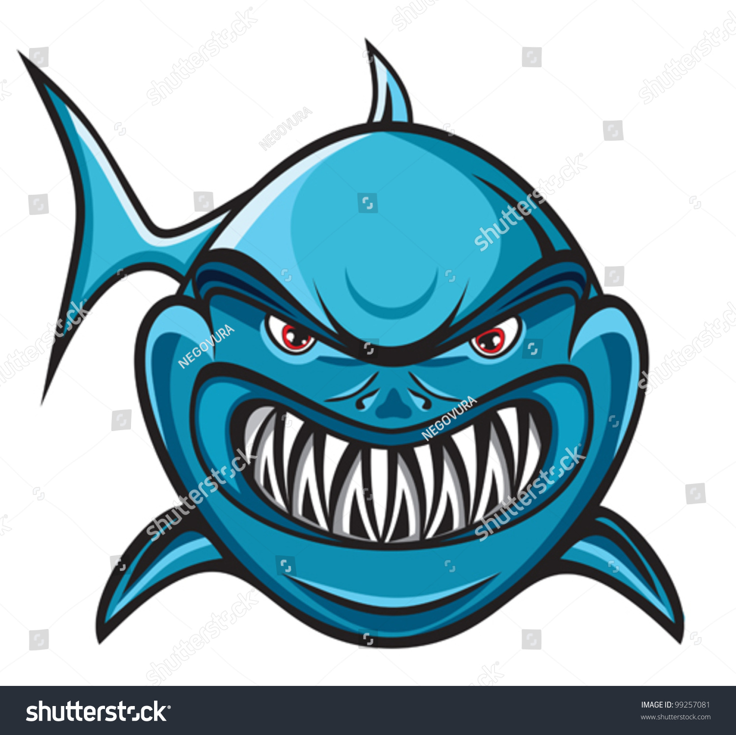Angry shark clipart - photo#24