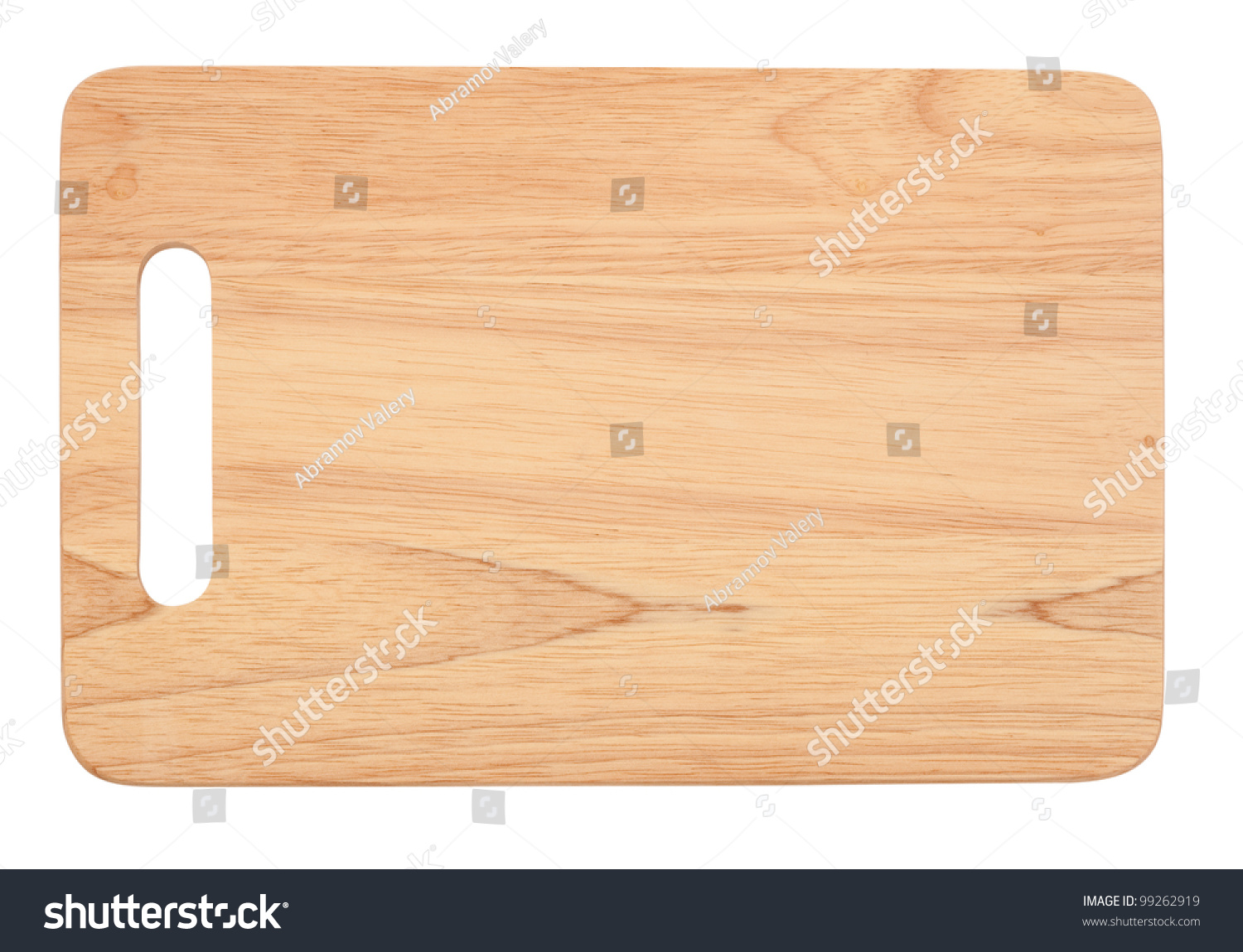 Wooden antiseptic cutting board isolated with clipping for White cutting board used for