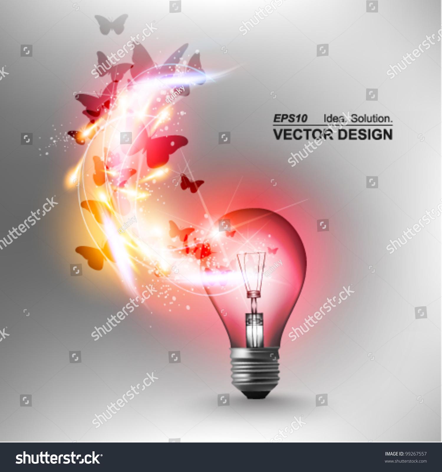 Idea Design save to a lightbox Stylish Conceptual Digital Light Bulb Idea Design Stock Vector Illustration 99267557 Shutterstock