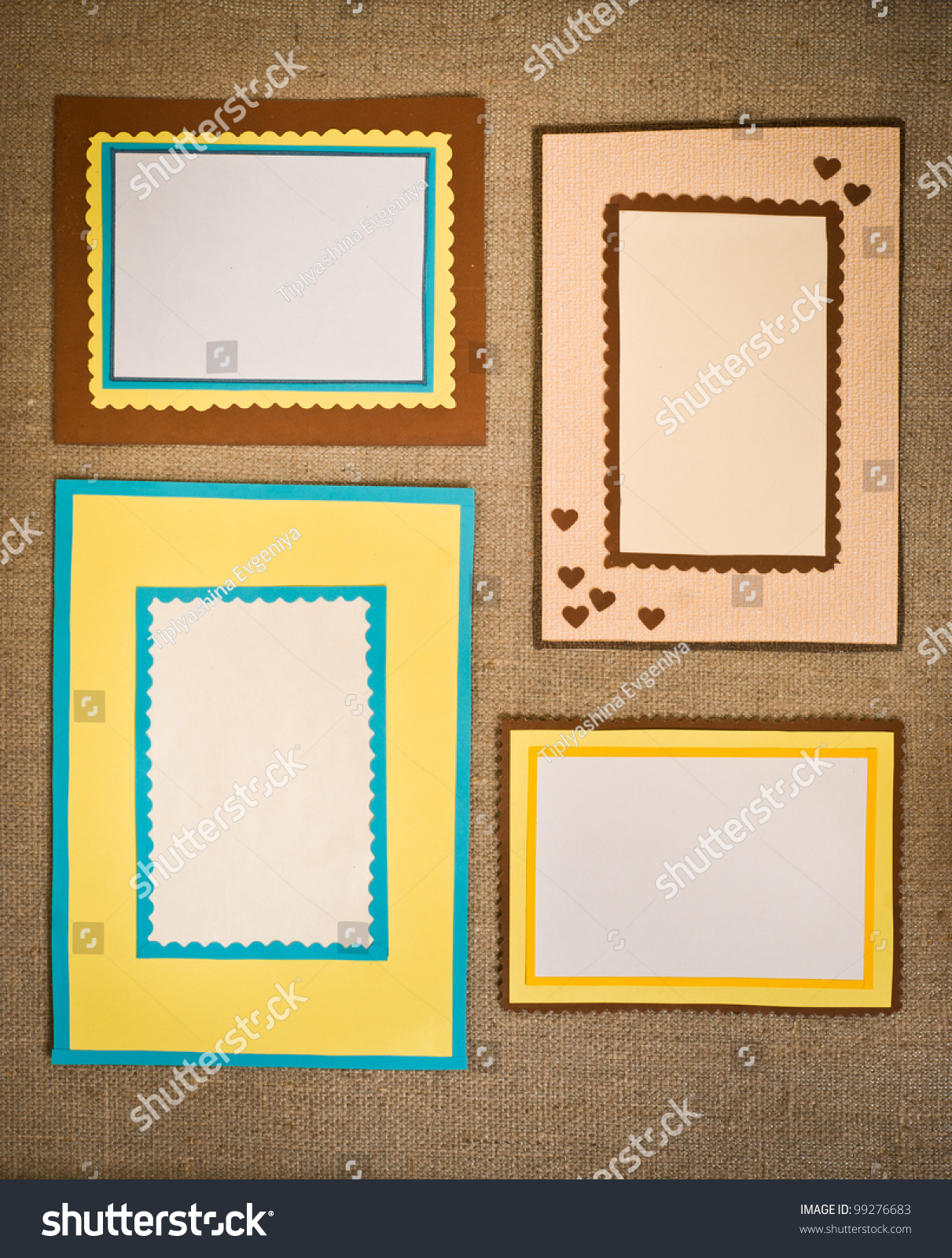 Four Frames Colored Paper Stock Photo (Edit Now)- Shutterstock