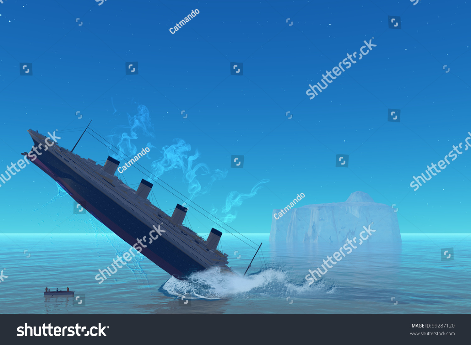 Ship Sinking - A Cruiseship Goes Down To The Ocean Floor ...
