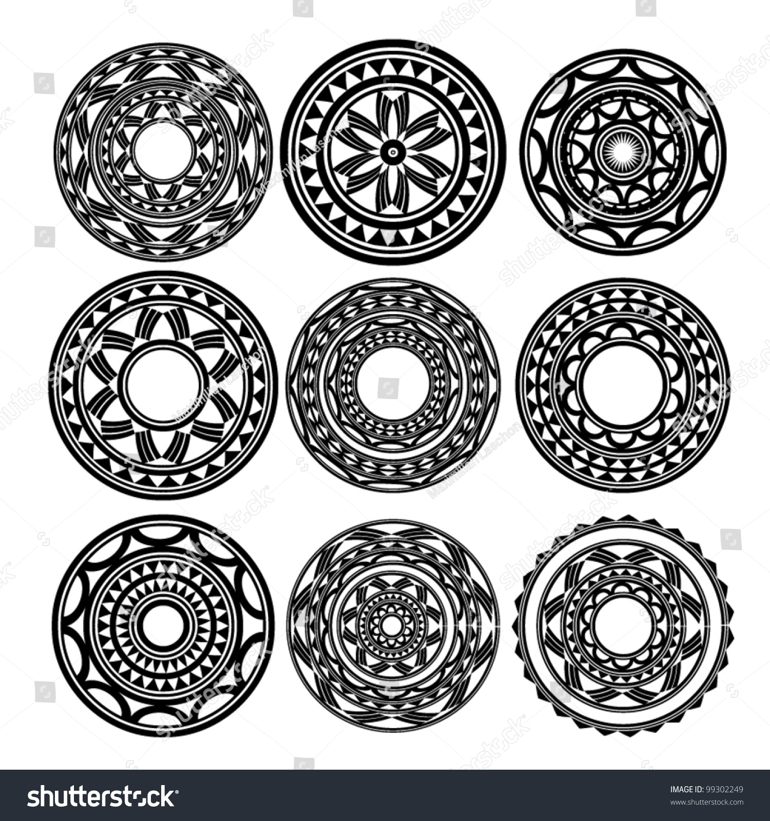 maori polynesian style tattoo stock vector 99302249 shutterstock. Black Bedroom Furniture Sets. Home Design Ideas