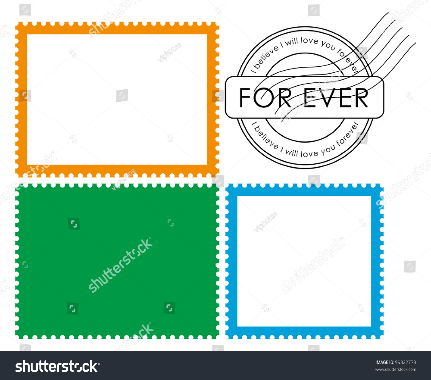 Blank Postage Stamp-Vector - 99322778 : Shutterstock