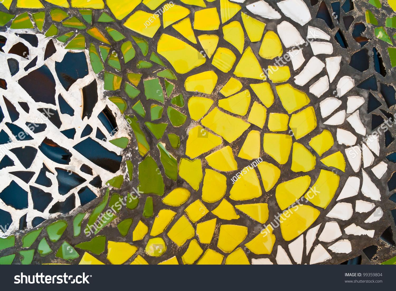 Mosaic Wall Decorative Ornament Broken Ceramic Stock Photo (Edit Now ...