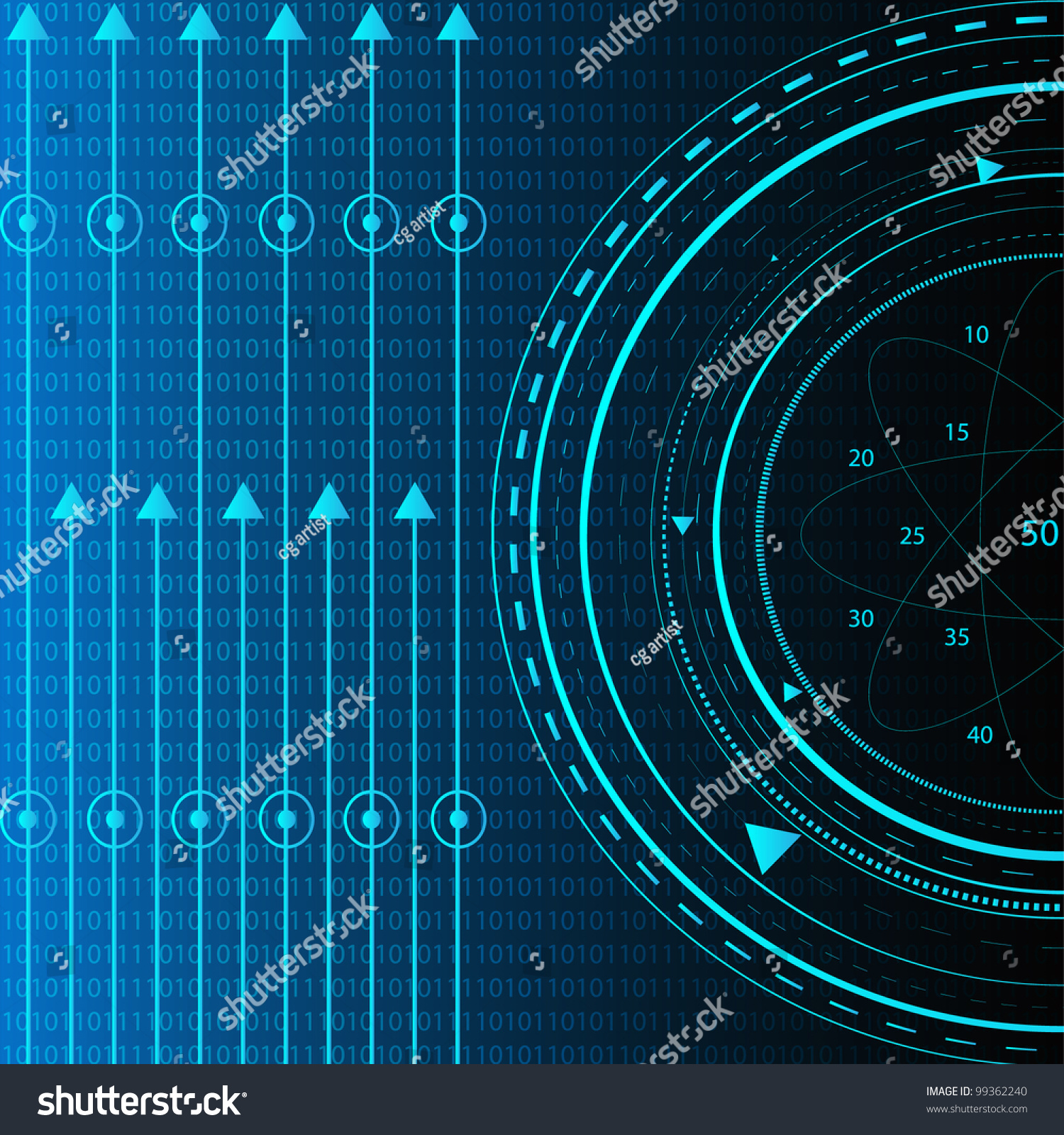 Vector Information Technology Background Stock Vector ...