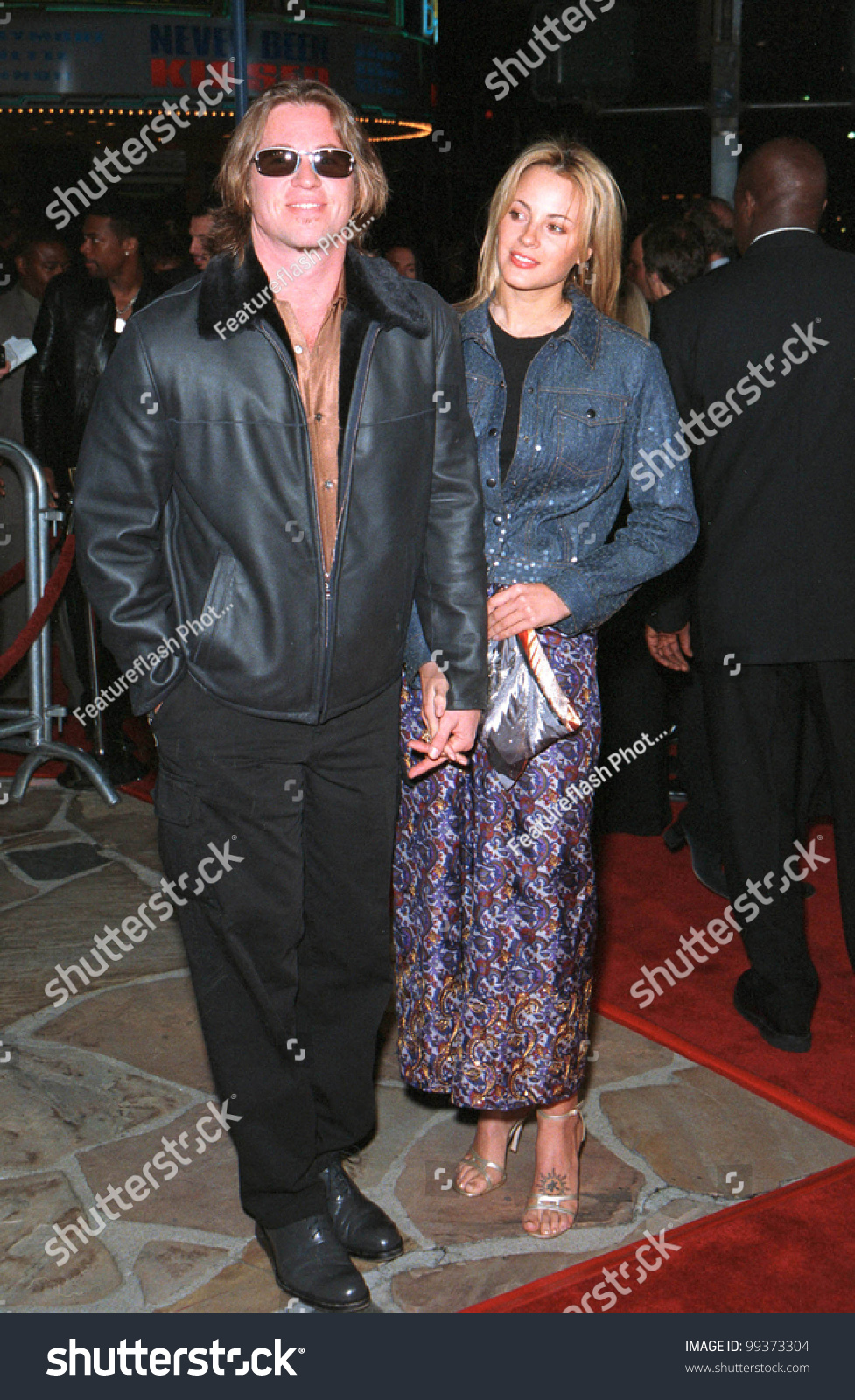 13apr99 actor val kilmer girlfriend world stock photo