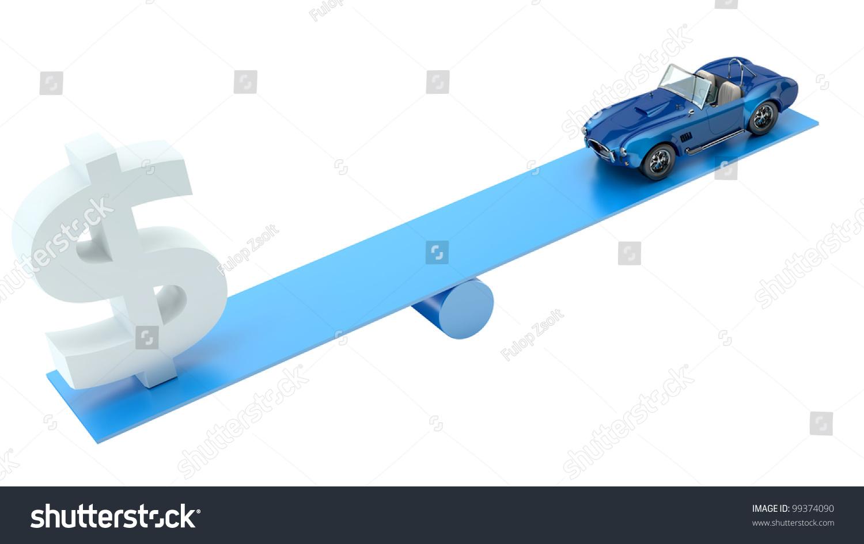 Render car dollar symbol on balance stock illustration 99374090 render of a car and a dollar symbol on a balance on a white background biocorpaavc Choice Image
