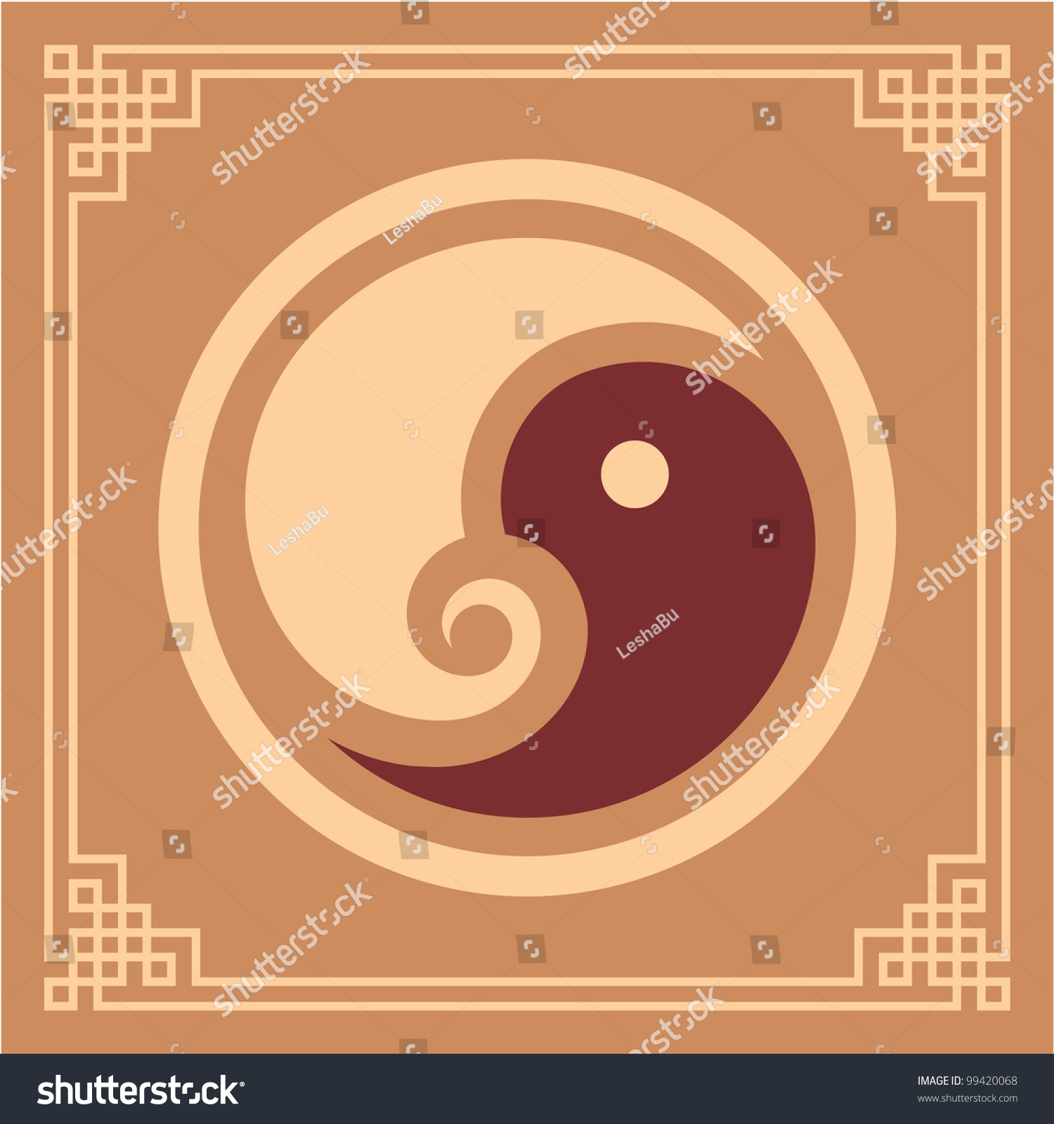 Oriental design element yin yang pattern stock vector for Architecture yin yang