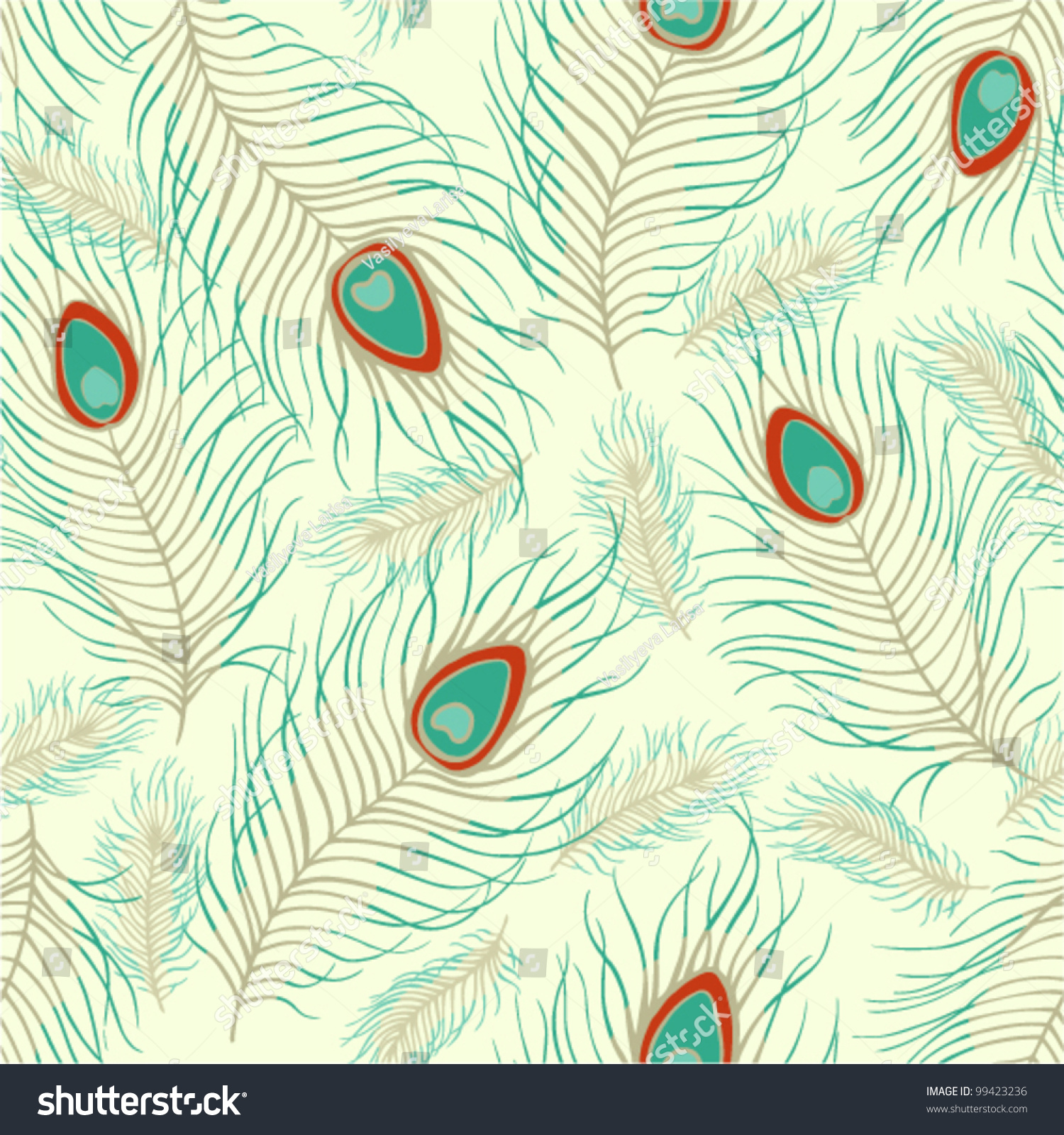 vector abstract peacock seamless - photo #1
