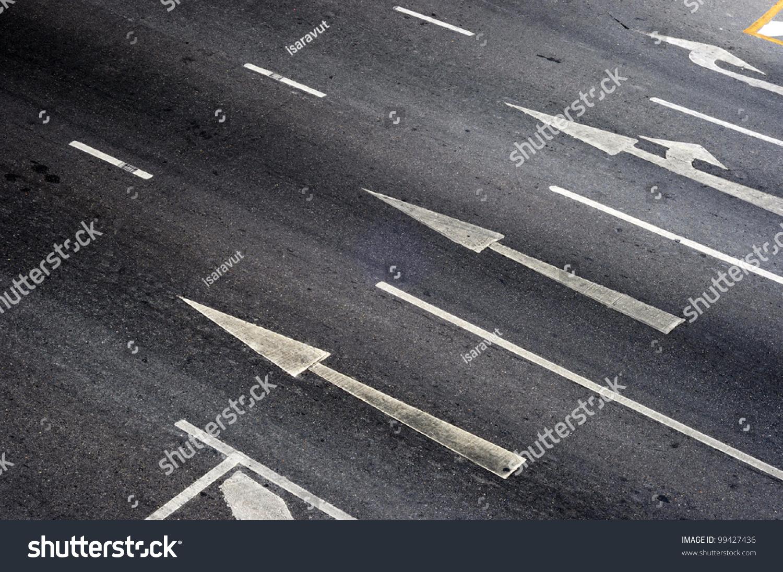Arrow Sign On Street Stock Photo 99427436 - Shutterstock
