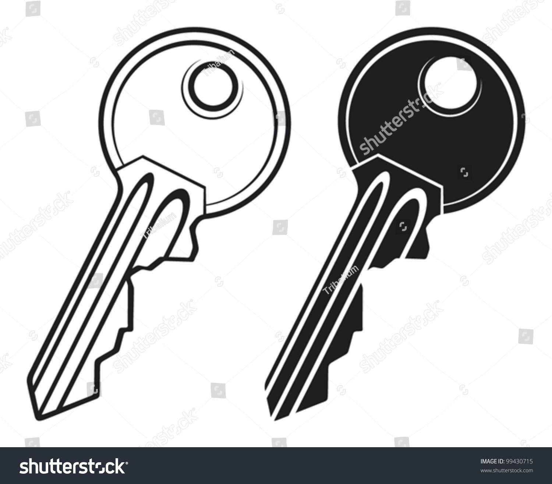 Vector Key Illustration: Key Vector Illustration Stock Vector 99430715