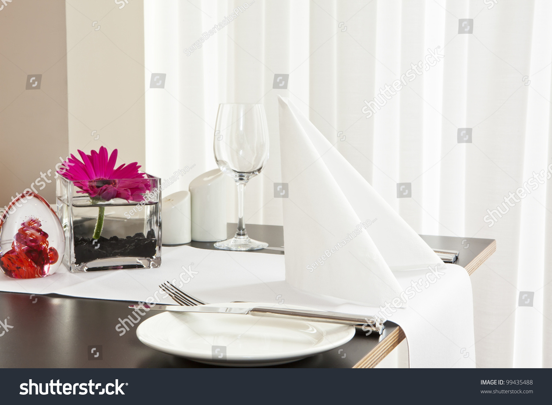 Formal Dining Table Set Up: Formal Dining Table Set Flower Luxury Stock Photo 99435488