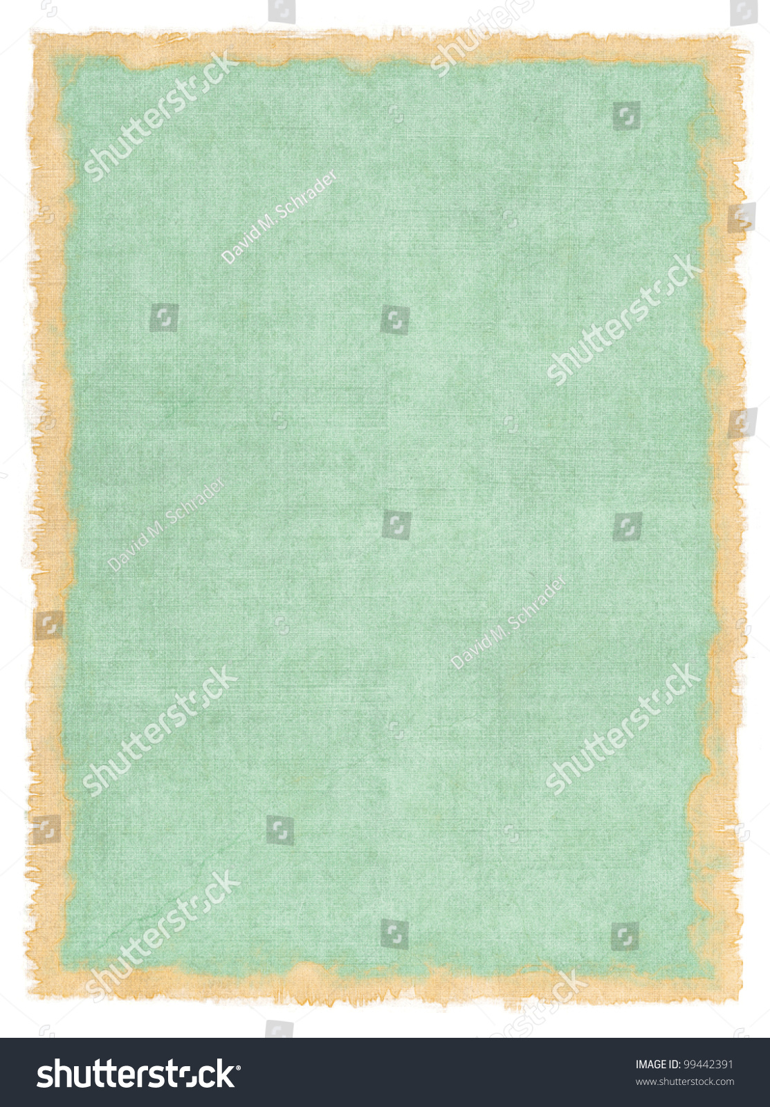 Book Cover Watercolor ~ An old cloth book cover with vintage colors and a stained