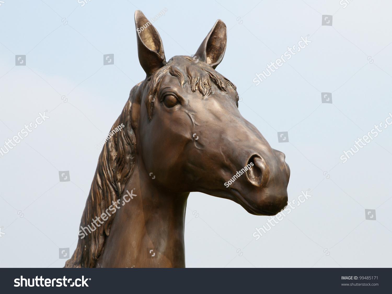 Historic Bronze Metal Horse Head Statue Stock Photo Edit Now 99485171