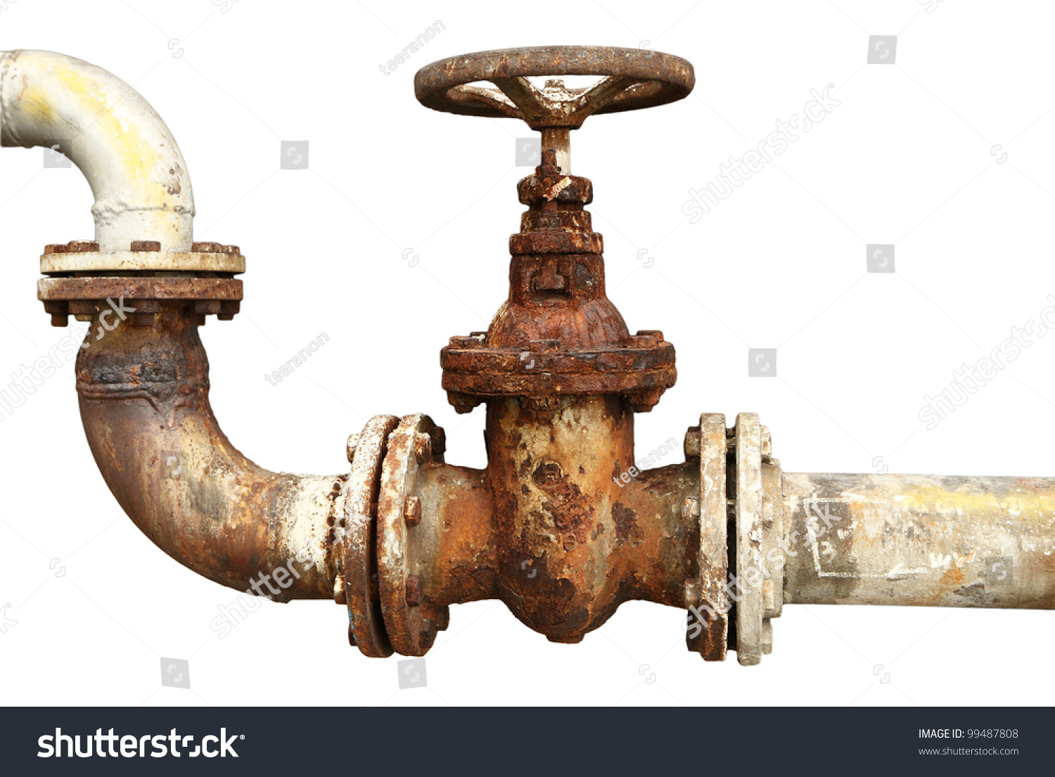 Old rusty industrial tap water pipe stock photo 99487808 for What are old plumbing pipes made of