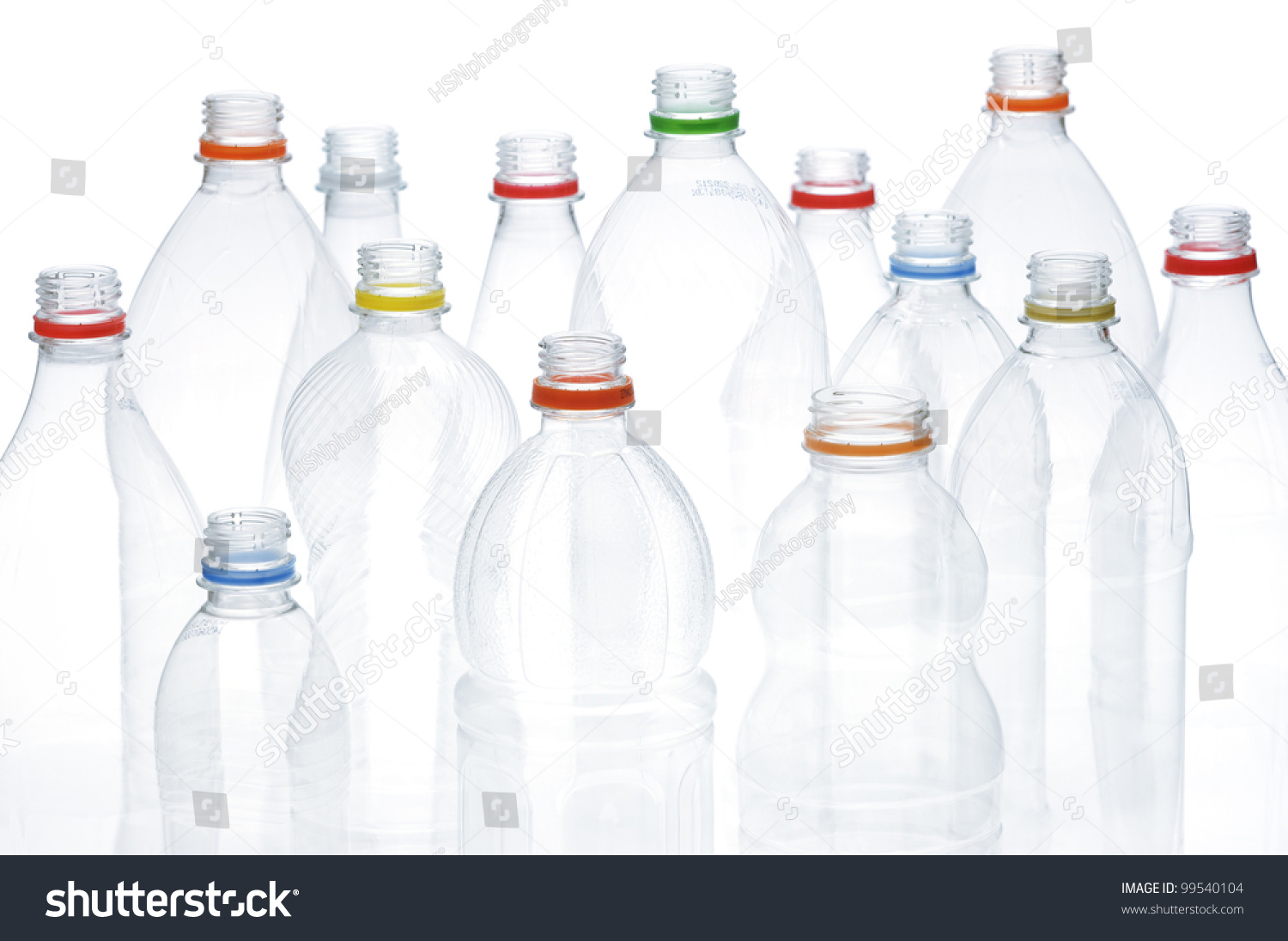 Empty plastic drinking bottles ready recycling stock photo for What to do with empty plastic bottles