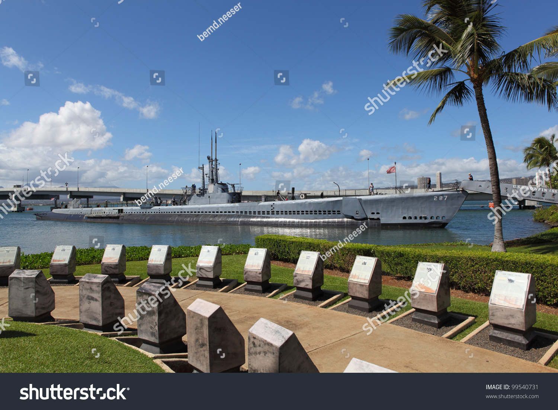 Memorial Pearl Harbor Submarine Uss Bowfin Stock Photo ...