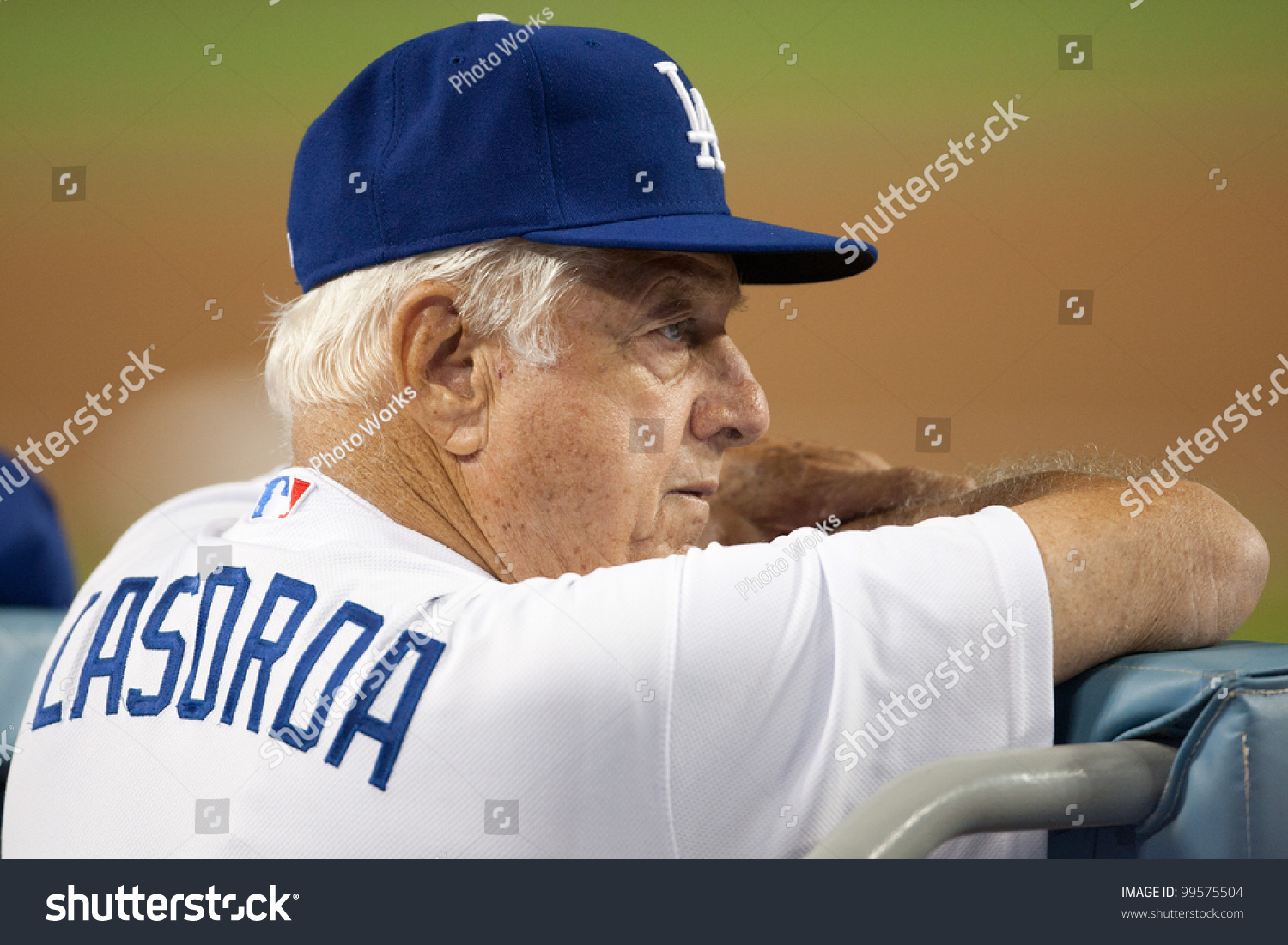 Los angeles sept 22 former los stock photo 99575504 shutterstock los angeles sept 22 former los angeles dodgers manager tommy lasorda during the major buycottarizona Image collections