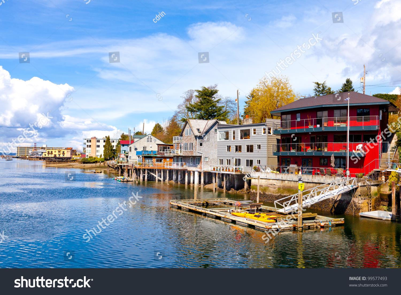 Mercer island luxury waterfront estate idesignarch interior design - Ballard Neighborhood Seattle Washington Waterfront Houses Stock