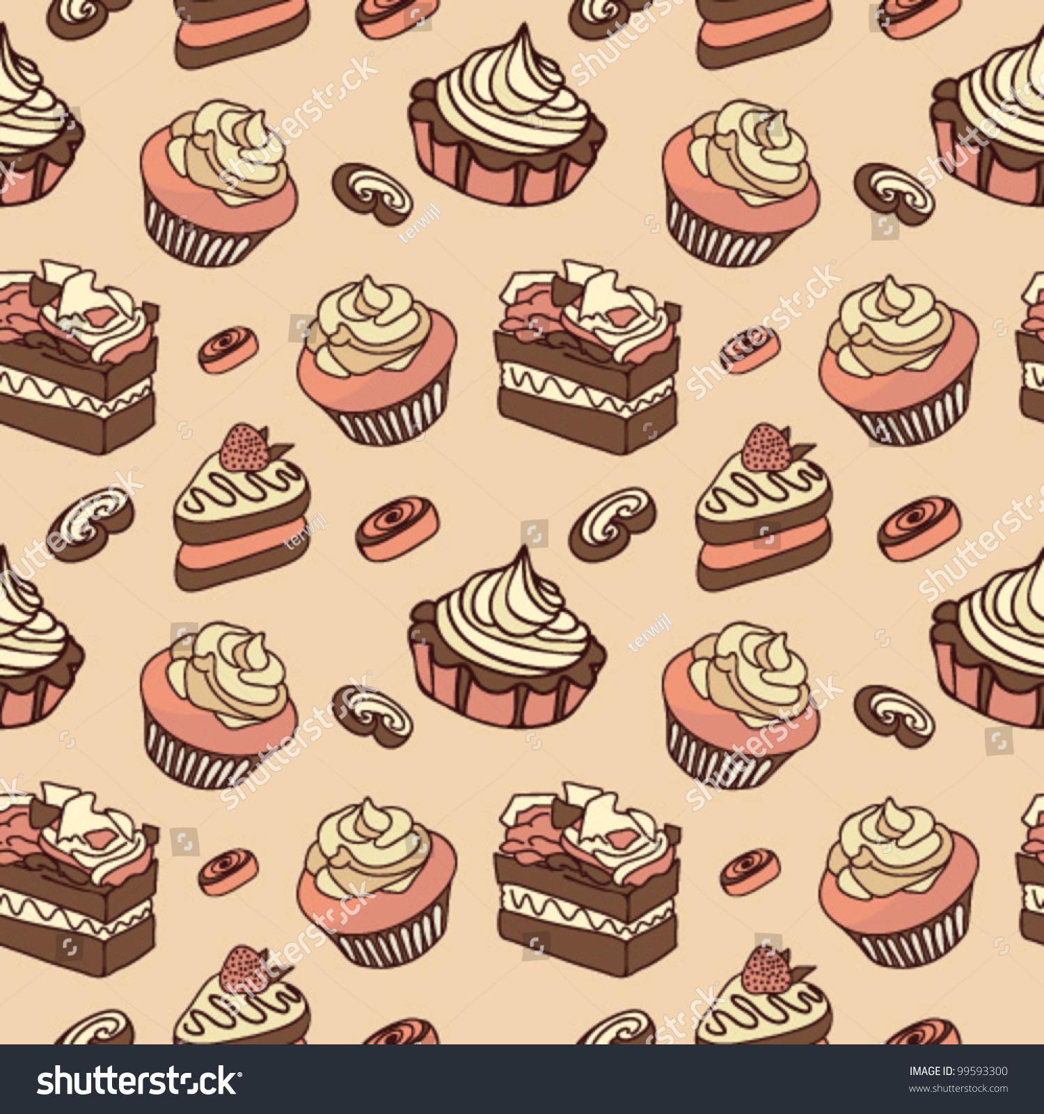 vector cupcake wallpaper