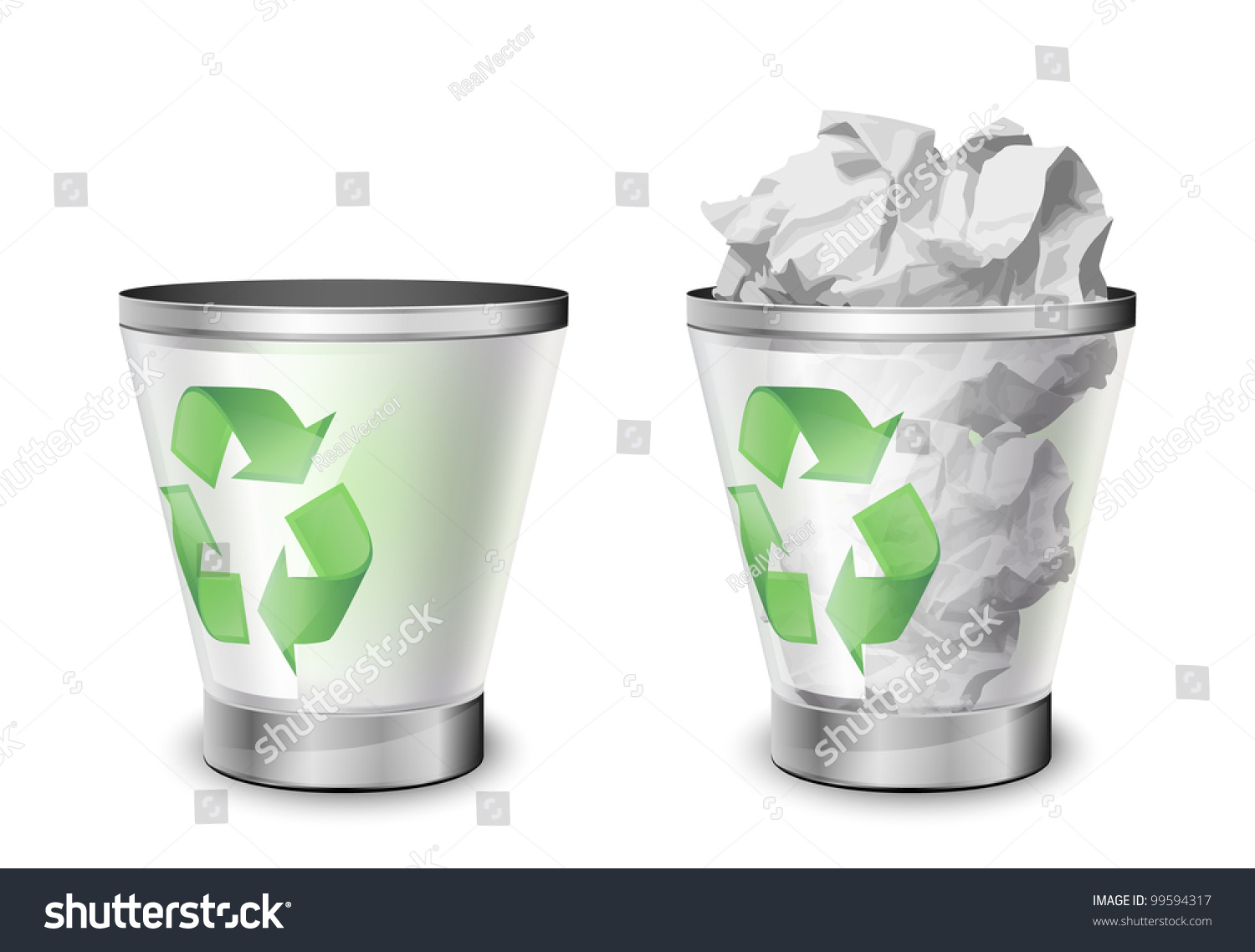 Worksheet Full And Empty trash bins full empty vector illustration stock 99594317 and illustration