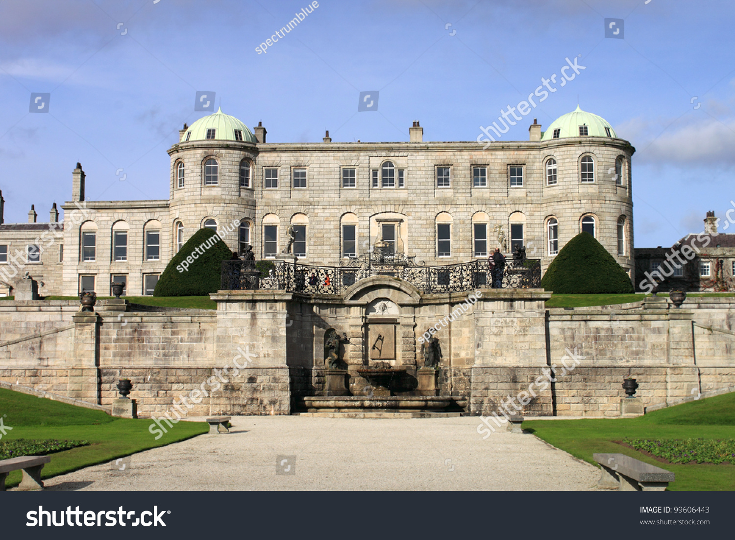 Powerscourt house one most beautiful country stock photo for Beautiful homes and great estates pictures