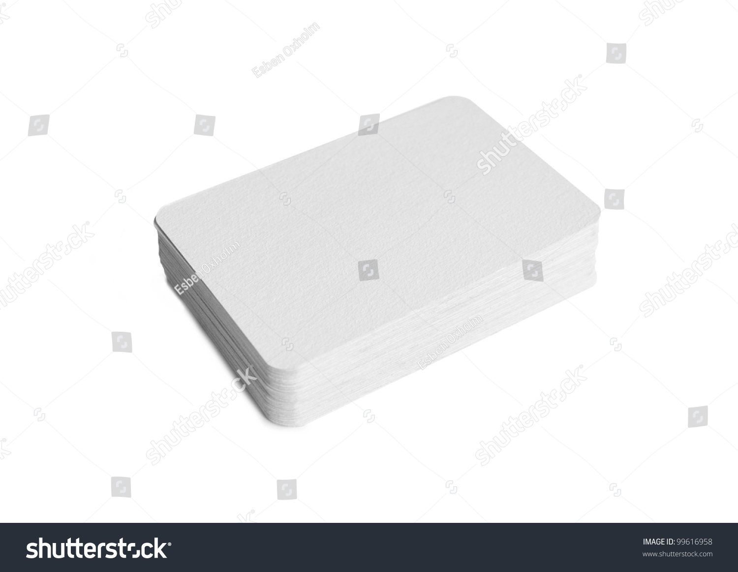 Photography Pile Blank Business Cards Rounded Stock Photo 99616958 ...