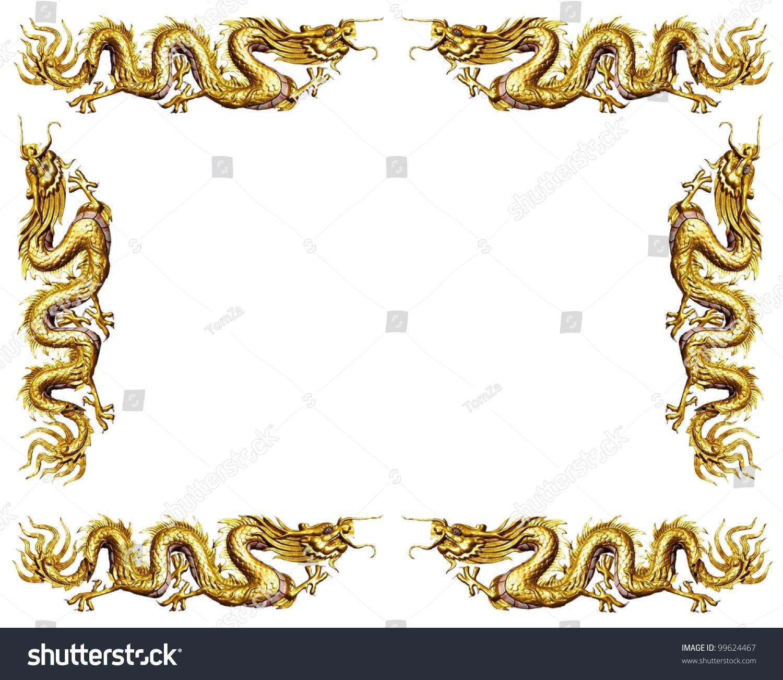 Golden Dragon On White Background Dragon Stock Photo (Edit Now ...