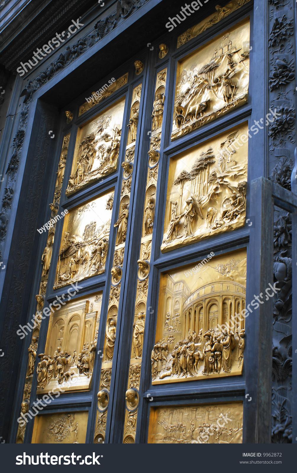 Golden Doors Duomo Florence Italy Stock Photo 9962872 ...