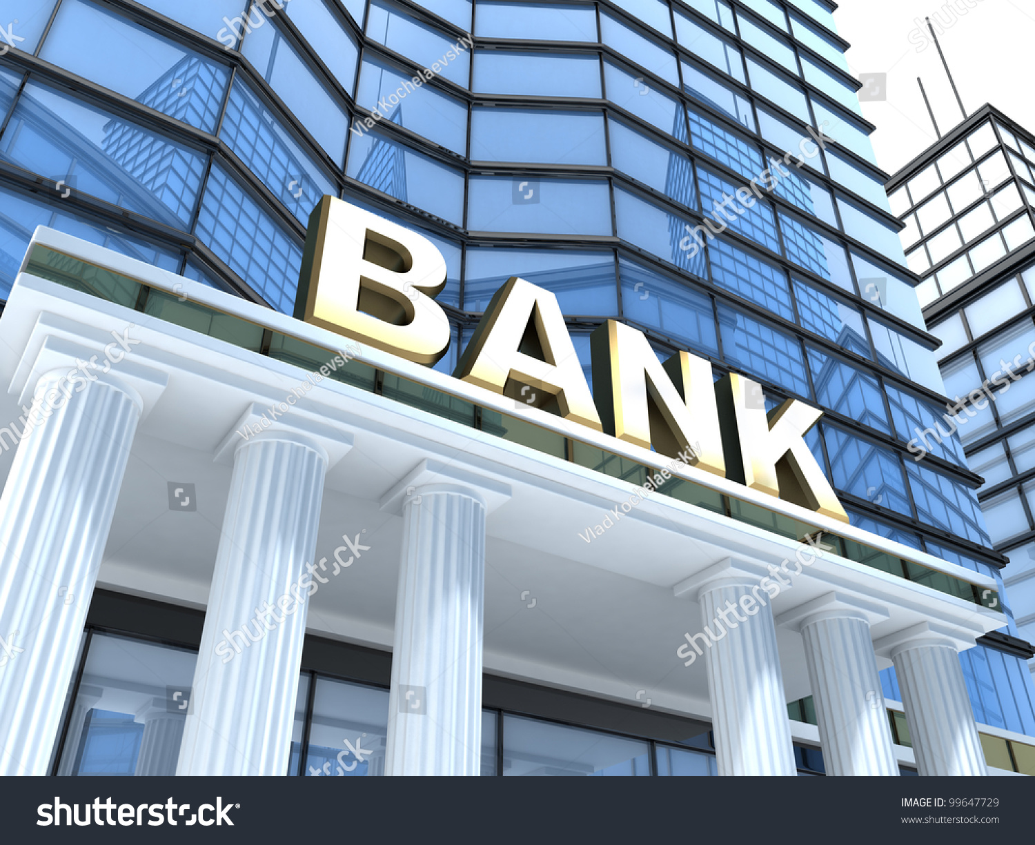 building sign bank done 3d stock illustration 99647729 shutterstock