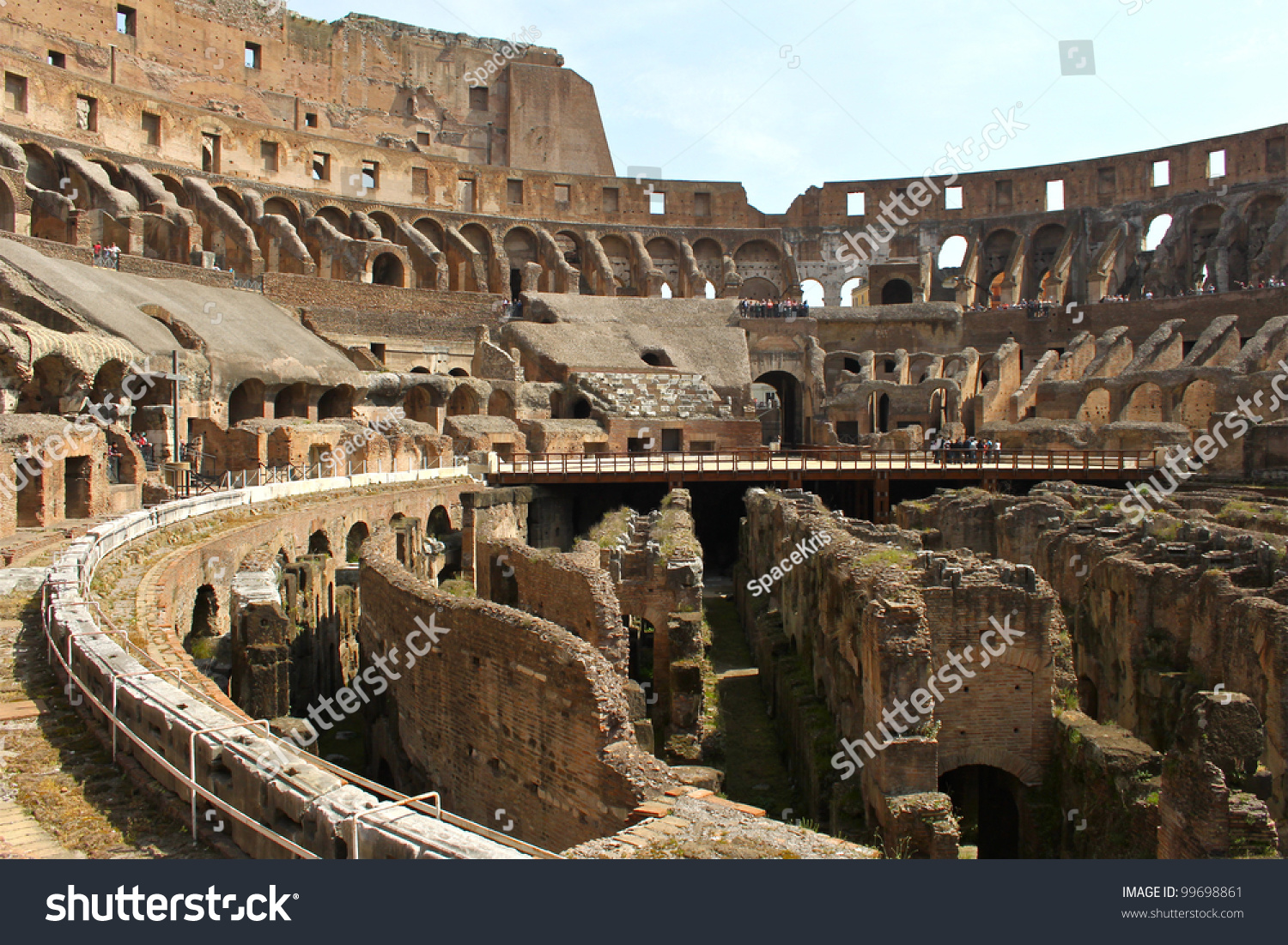 Inside The Colosseum In Rome, Italy. Stock Photo 99698861 ...