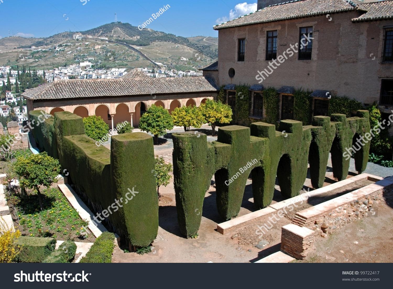 Patio de machuca mexuar palace of alhambra granada - Patios de granada ...