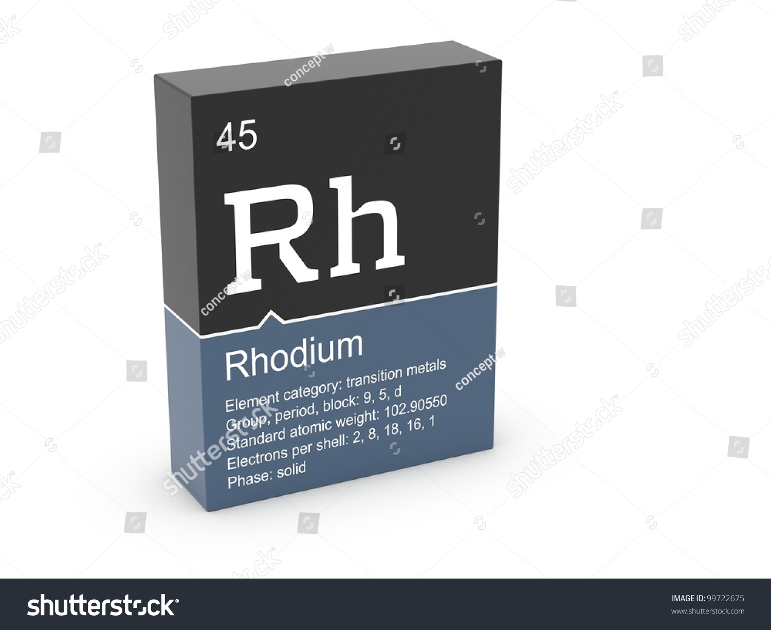 Rhodium mendeleevs periodic table stock illustration 99722675 rhodium from mendeleevs periodic table gamestrikefo Image collections