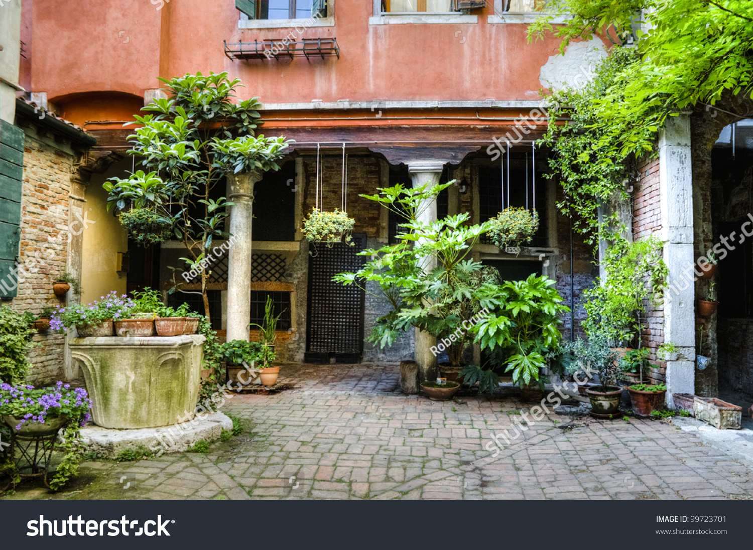 Container Gardening Courtyard Venice Italy Stock Photo Edit Now