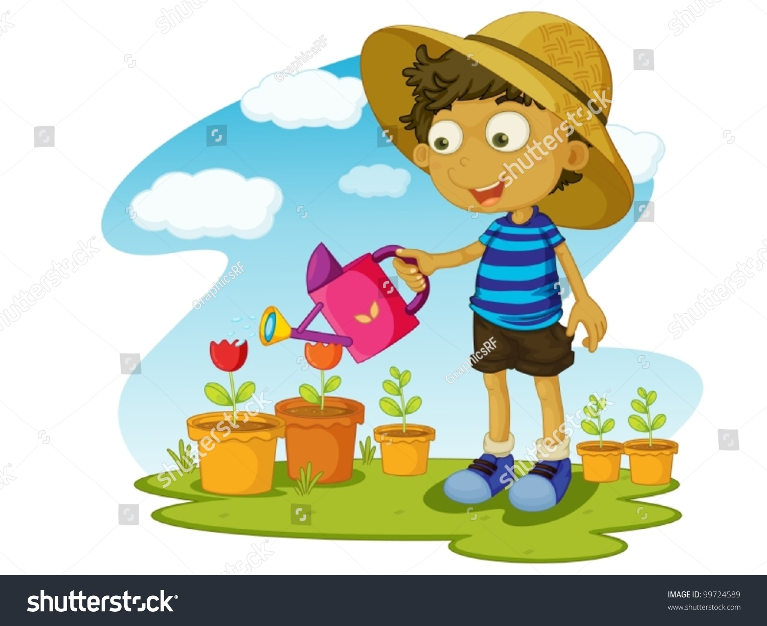 Kids Planting Flowers Clipart | www.imgkid.com - The Image ...