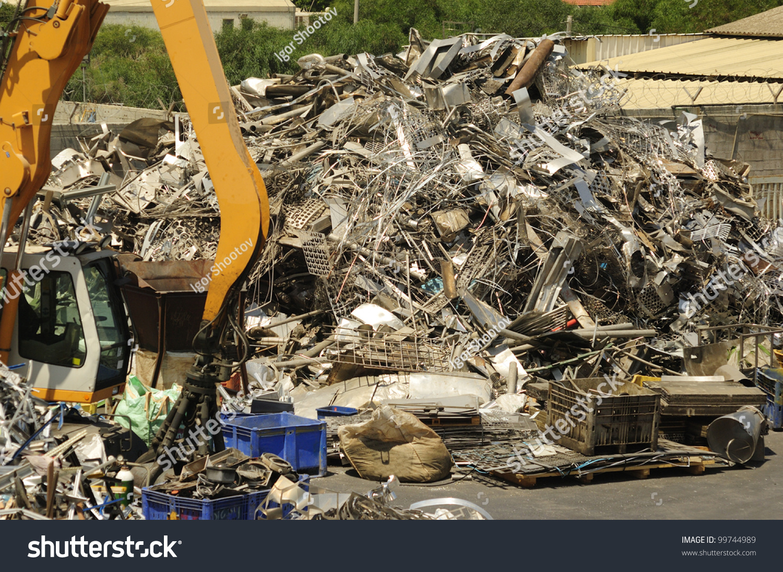 Mechanical crane grabber working in a… Stock Photo 99744989 - Avopix com