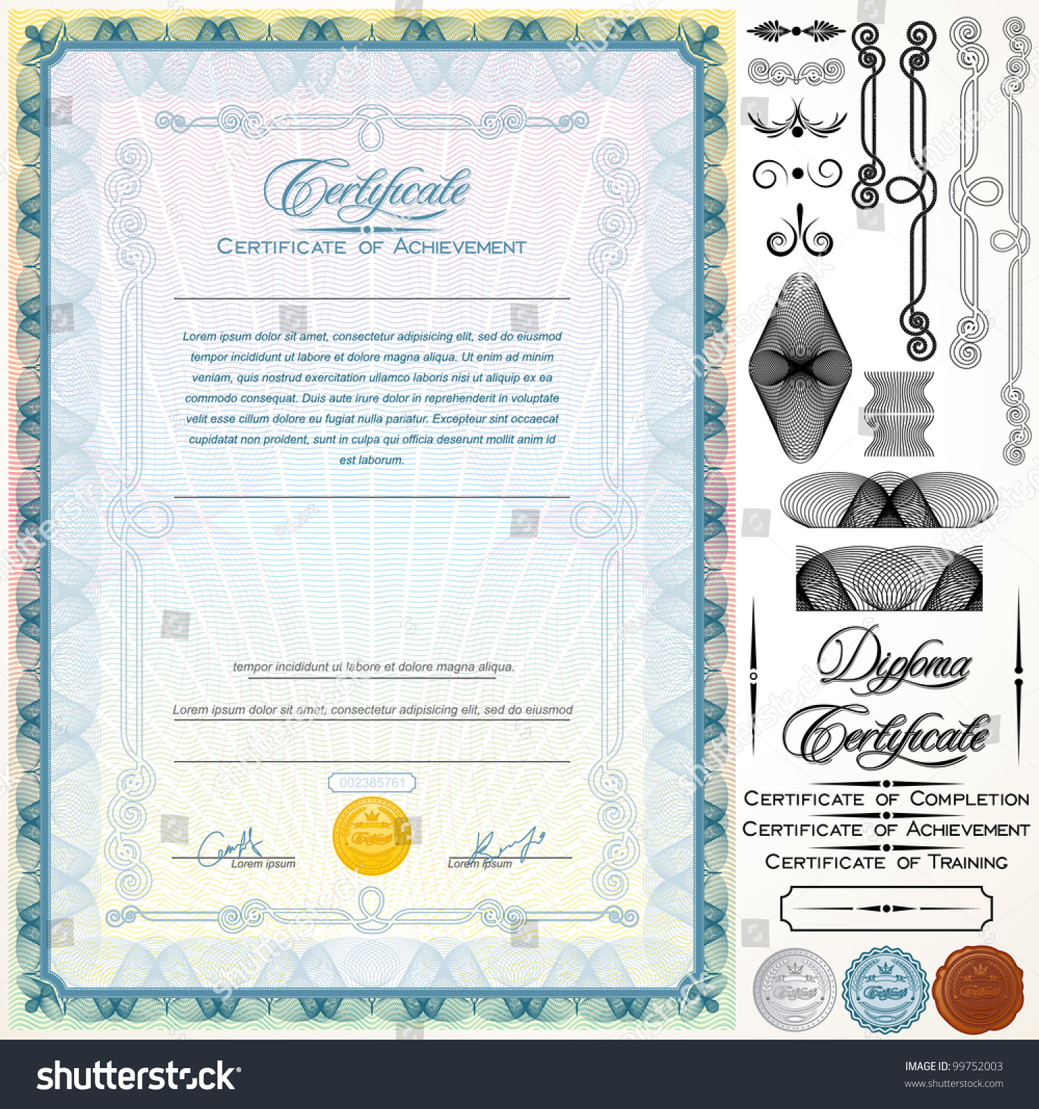 customizable certificate template - diploma or certificate template customizable design