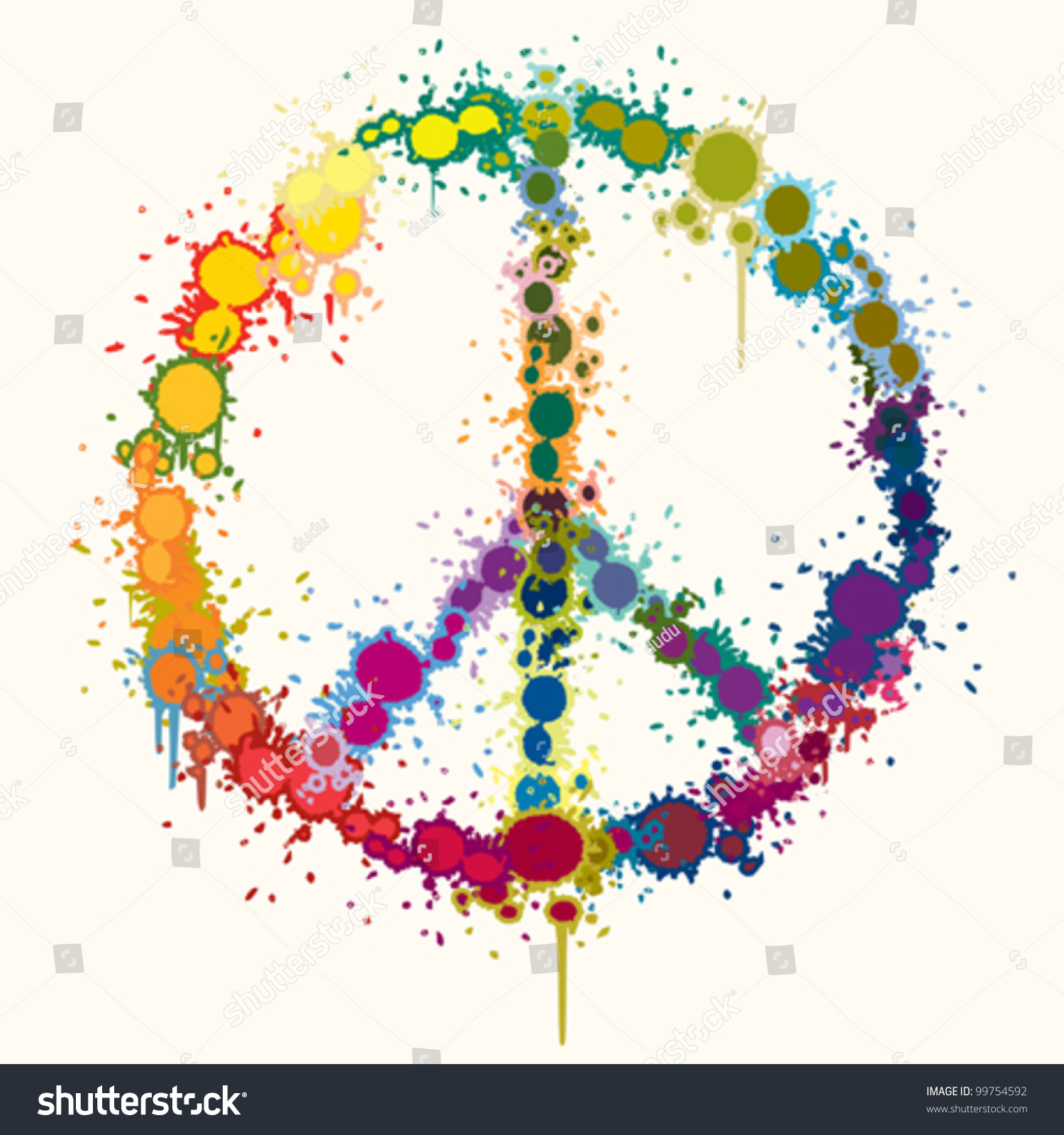 rainbow color peace sign background stock vector 99754592