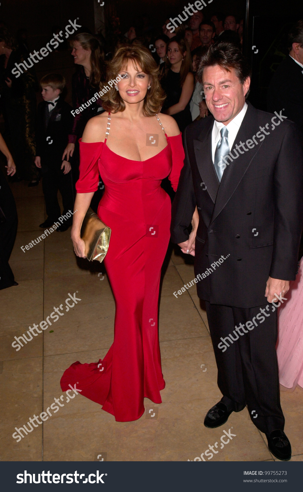 Actress Raquel Welch Husband Richard Palmer Stock Photo