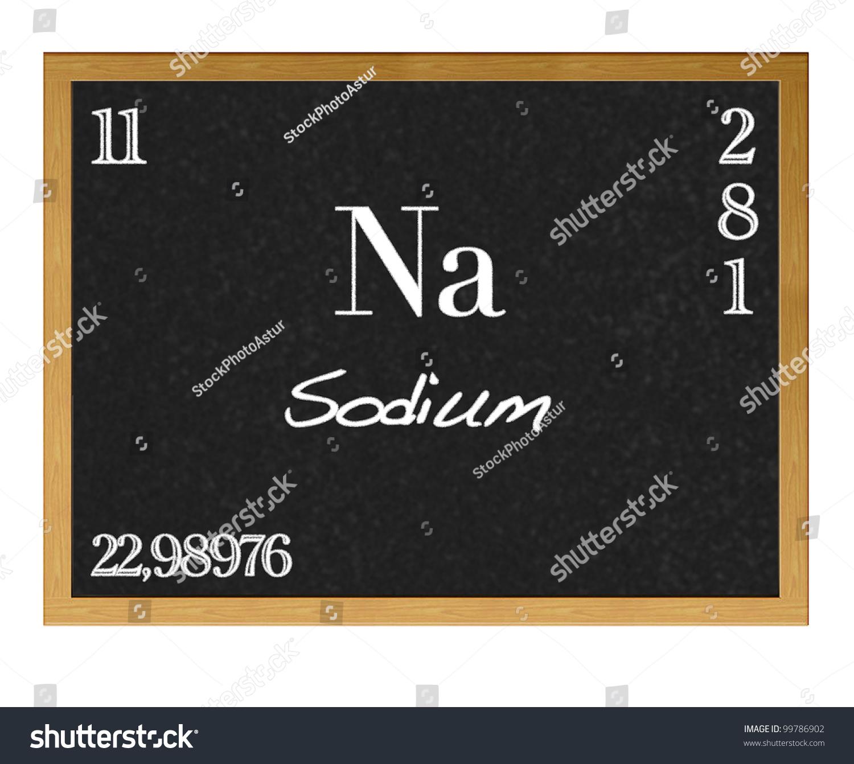 Isolated blackboard periodic table sodium stock illustration isolated blackboard with periodic table sodium gamestrikefo Image collections