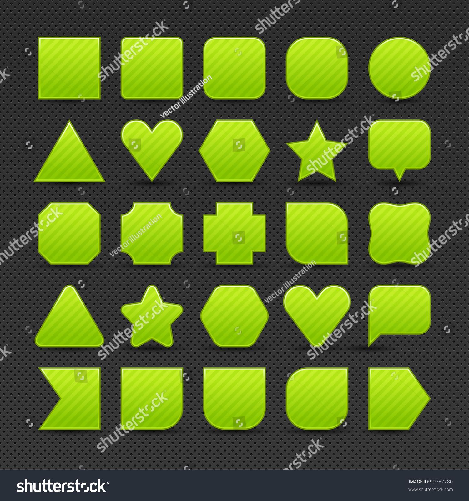 25 Variations Form Green Button Light Stock Vector 99787280 ...