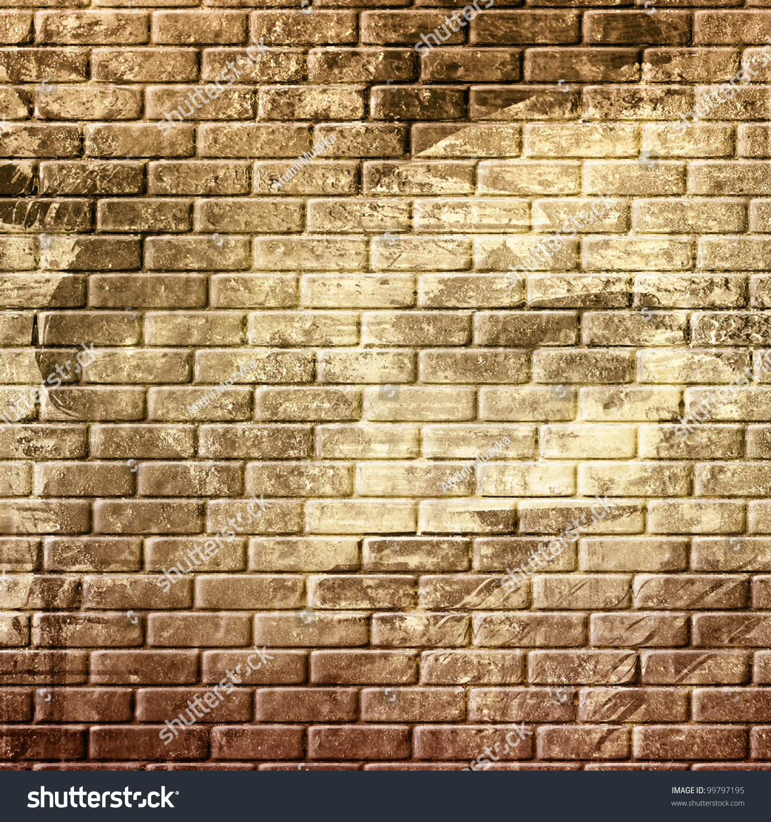 Abstract Grunge Brick Wall Background Stock Illustration 99797195 ...