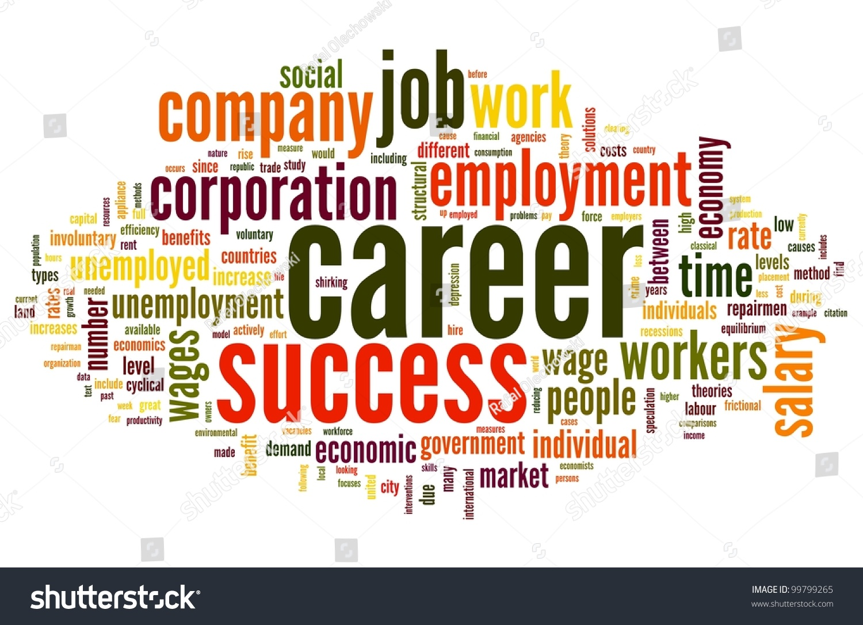 Career Related Words Concept Word Tag Ilustración de stock99799265 ...