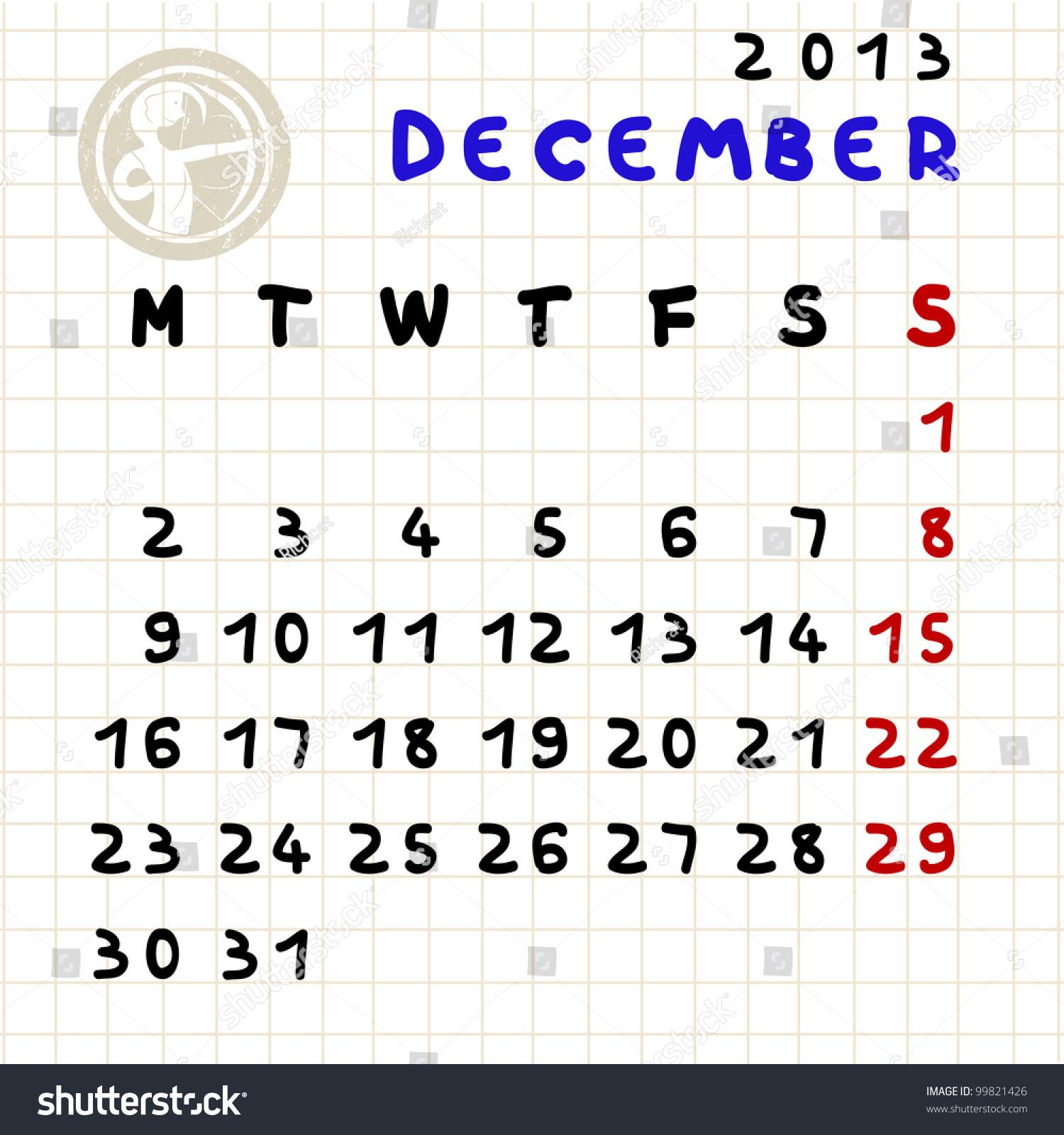 Monthly Calendar Horoscope : Monthly calendar december with sagittarius
