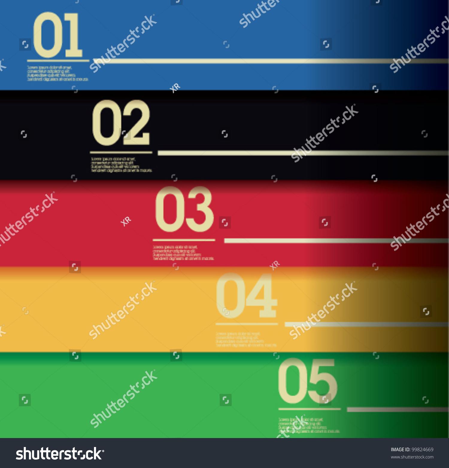 Colorful Web Design Template Stock Vector (2018) 99824669 - Shutterstock