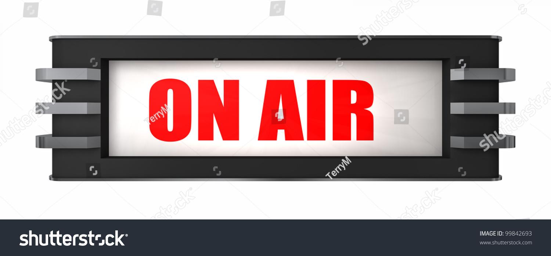 On Air Sign Art Deco Style Stock Illustration 99842693 - Shutterstock