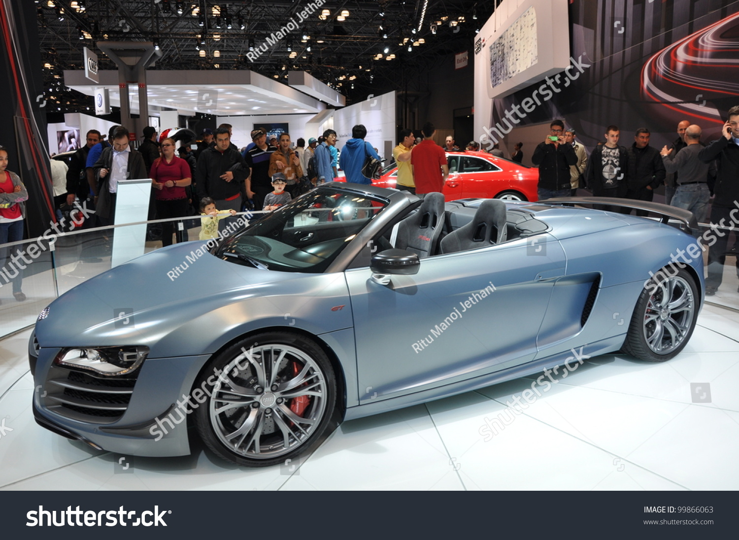 new york april 11 the audi r8 ct spyder at the 2012 new. Black Bedroom Furniture Sets. Home Design Ideas