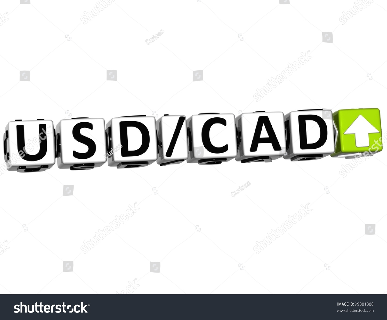 3 D Currency Usd Cad Rate Concept Stock Illustration 99881888
